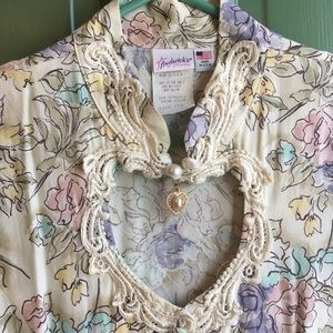 VINTAGE Fredrick's of Hollywood Pastel Floral Maxi